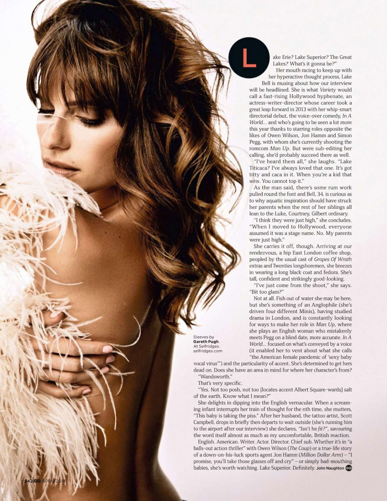 Lake Bell - GQ Magazine (UK) - April 2014 Issue