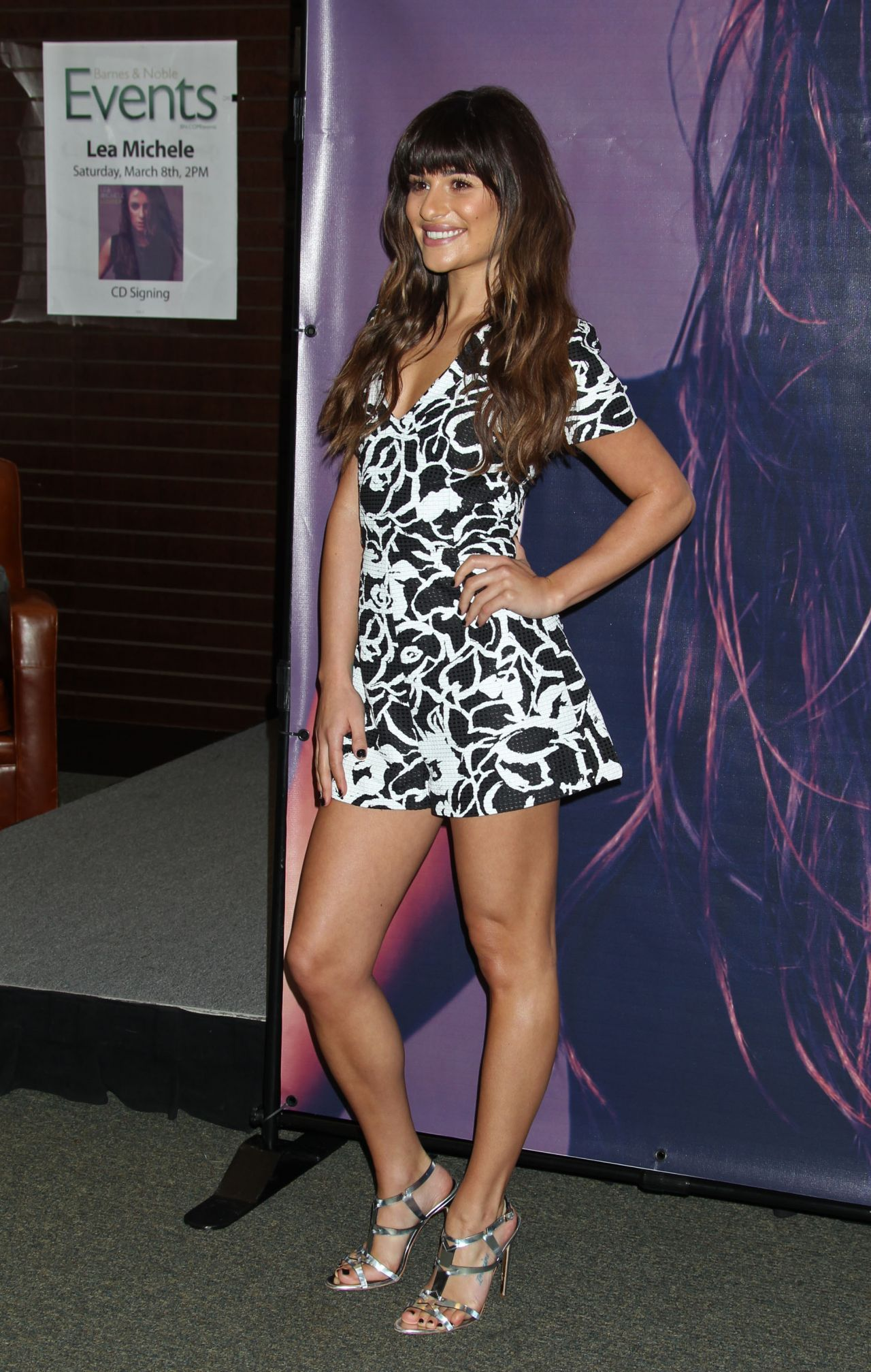 lea michele louder cd signing at barnes and noble at