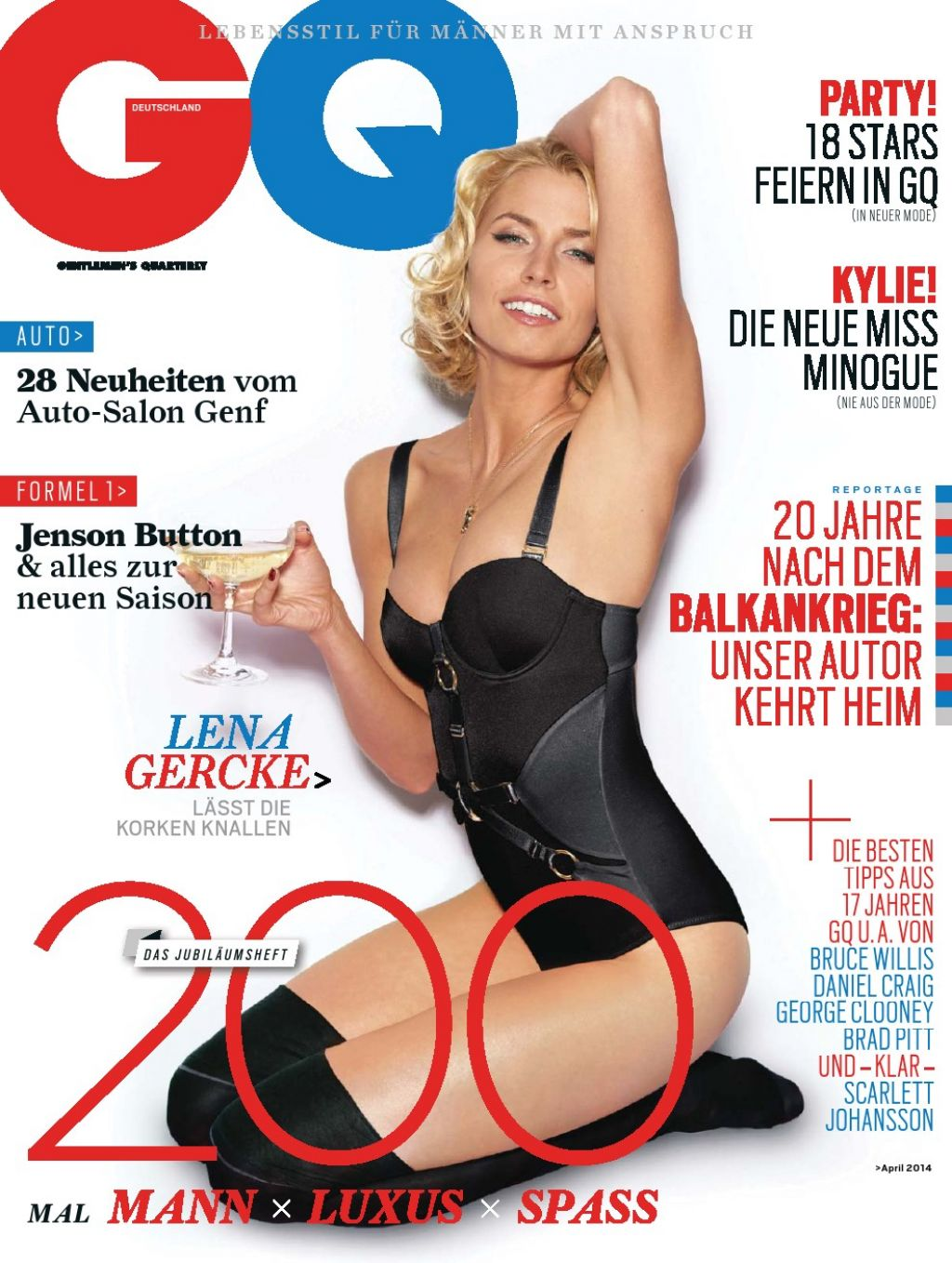 Lena Gercke - GQ Magazine (Germany) - April 2014 Issue