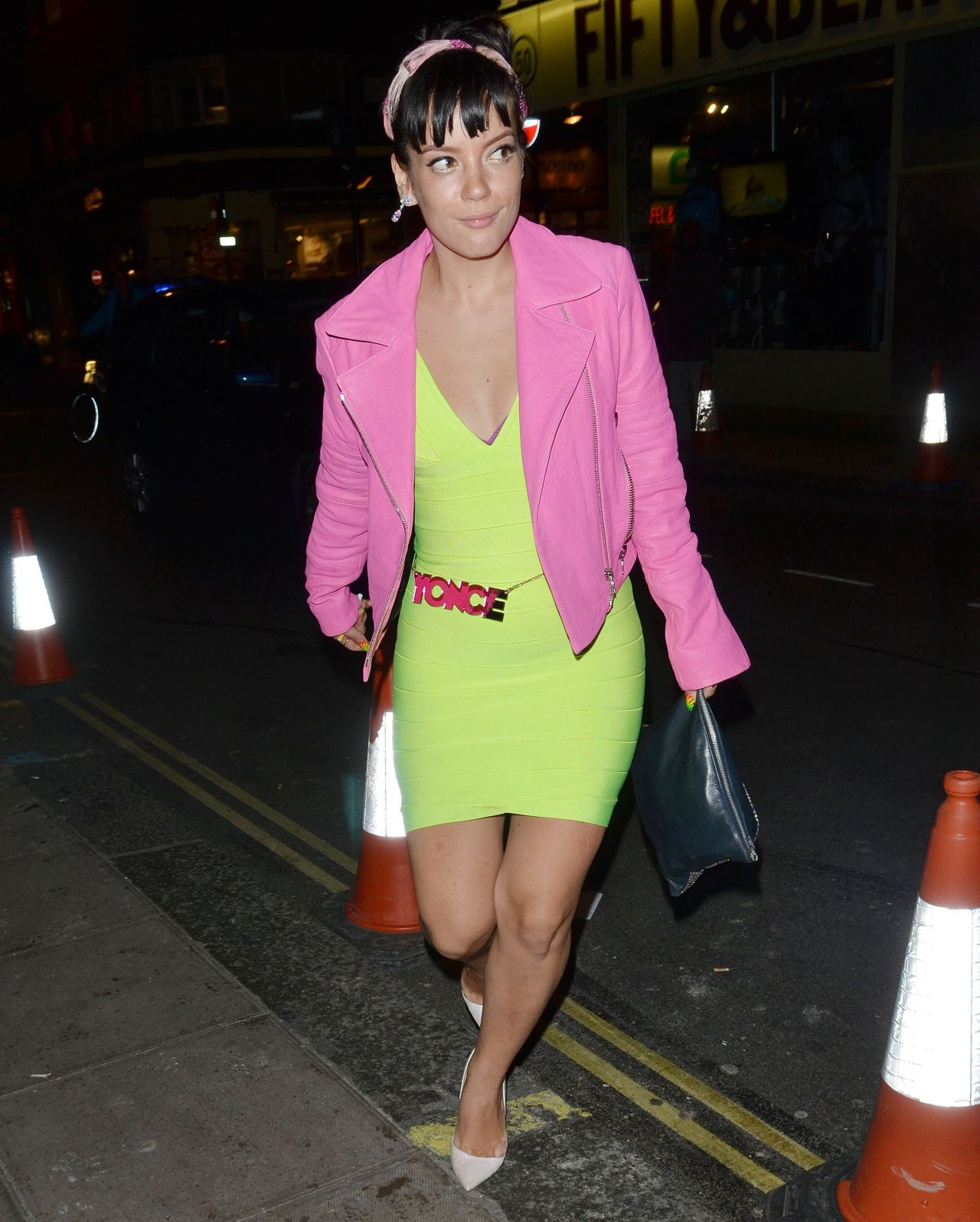 Lily Allen Night out Style - Leaving The Groucho Club in London