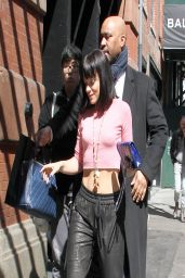 Lily Allen Street Style - Outside Mercer Hotel in New York - March 2014