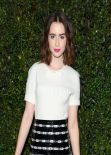 Lily Collins - Chanel and Charles Finch Pre-Oscar Dinner at Madeo Restaurant in Los , 03/01/14