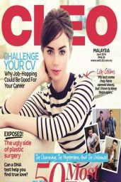 Lily Collins - Cleo Magazine (Malaysia) April 2014 Cover