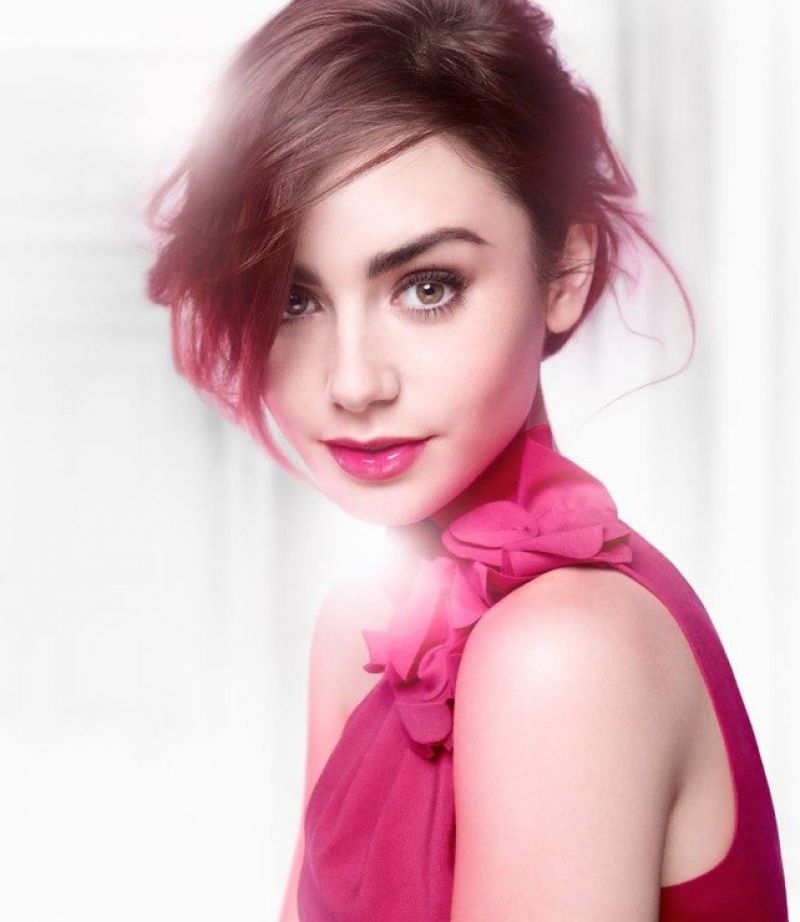 Lily collins lancome campaign 2014