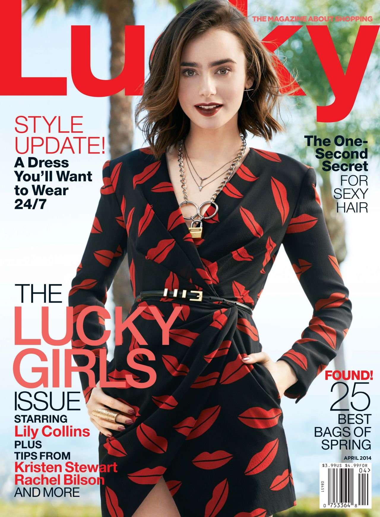 Lily Collins - Lucky Magazine - April 2014 Issue