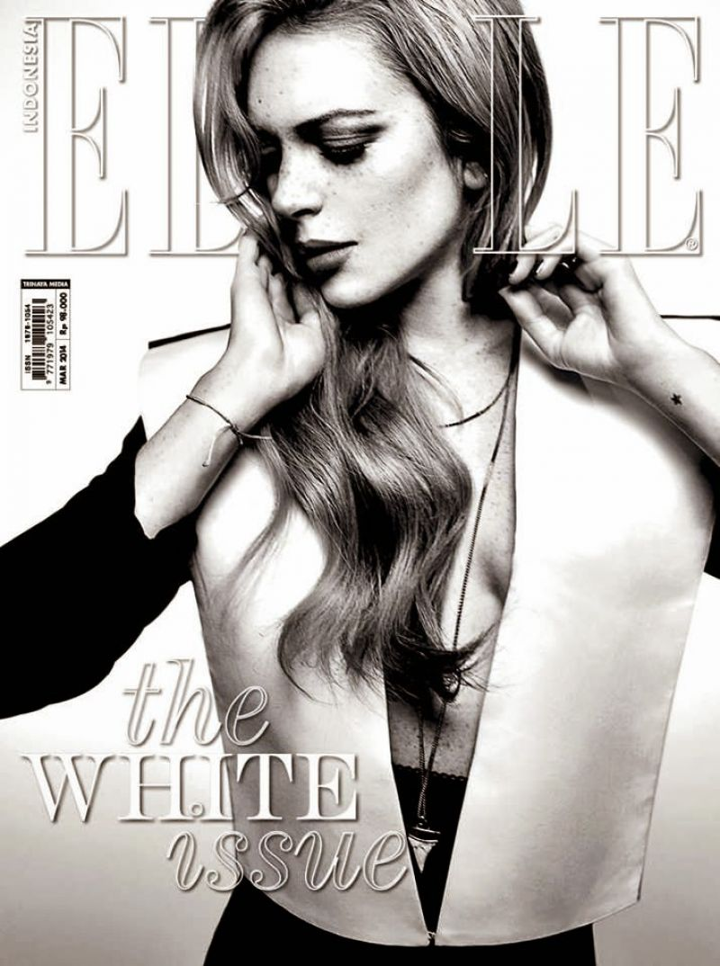 Lindsay Lohan - Elle Magazine (Indonesia) - March 2014 Cover