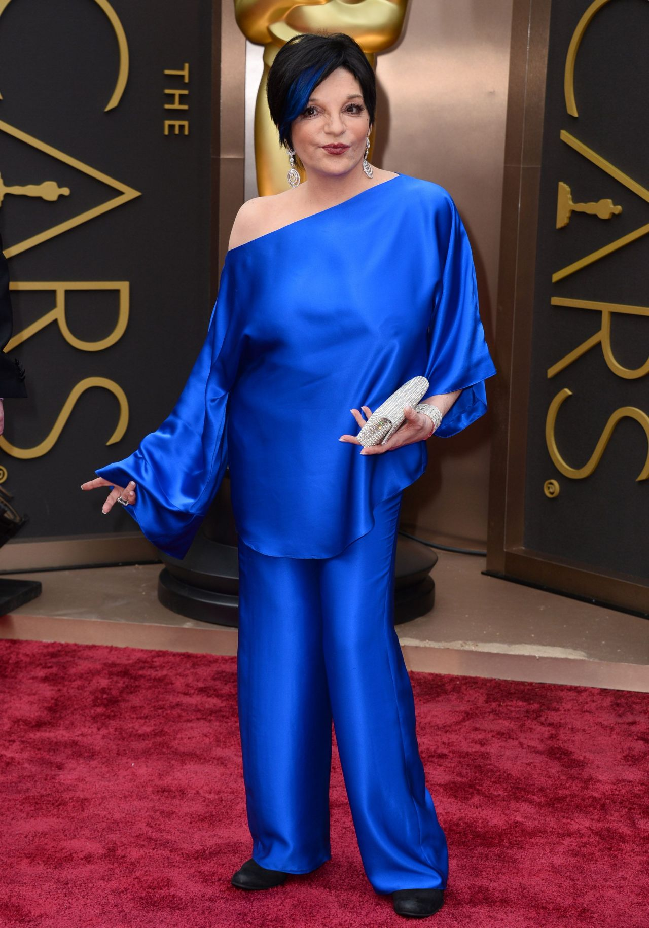 Liza Minnelli in a Cobalt Blue Pantsuit - 2014 Oscars