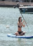 Lucy Mecklenburgh in Black Bikini - Paddleboarding In Miami