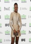 Lupita Nyong'o Wearing Stella McCartney - 2014 Film Independent Spirit Awards in Santa Monica