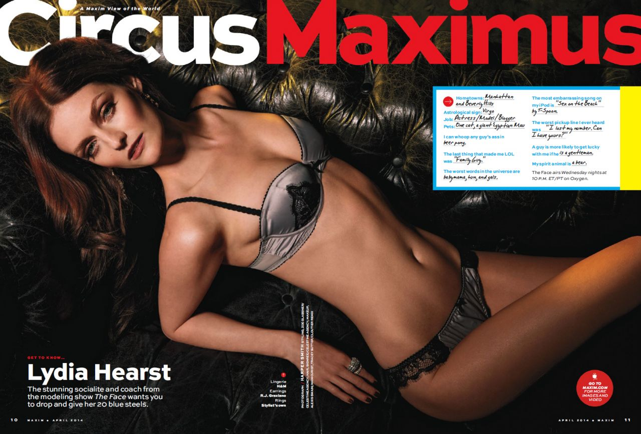 Lydia Hearst - Maxim Magazine April 2014 Issue