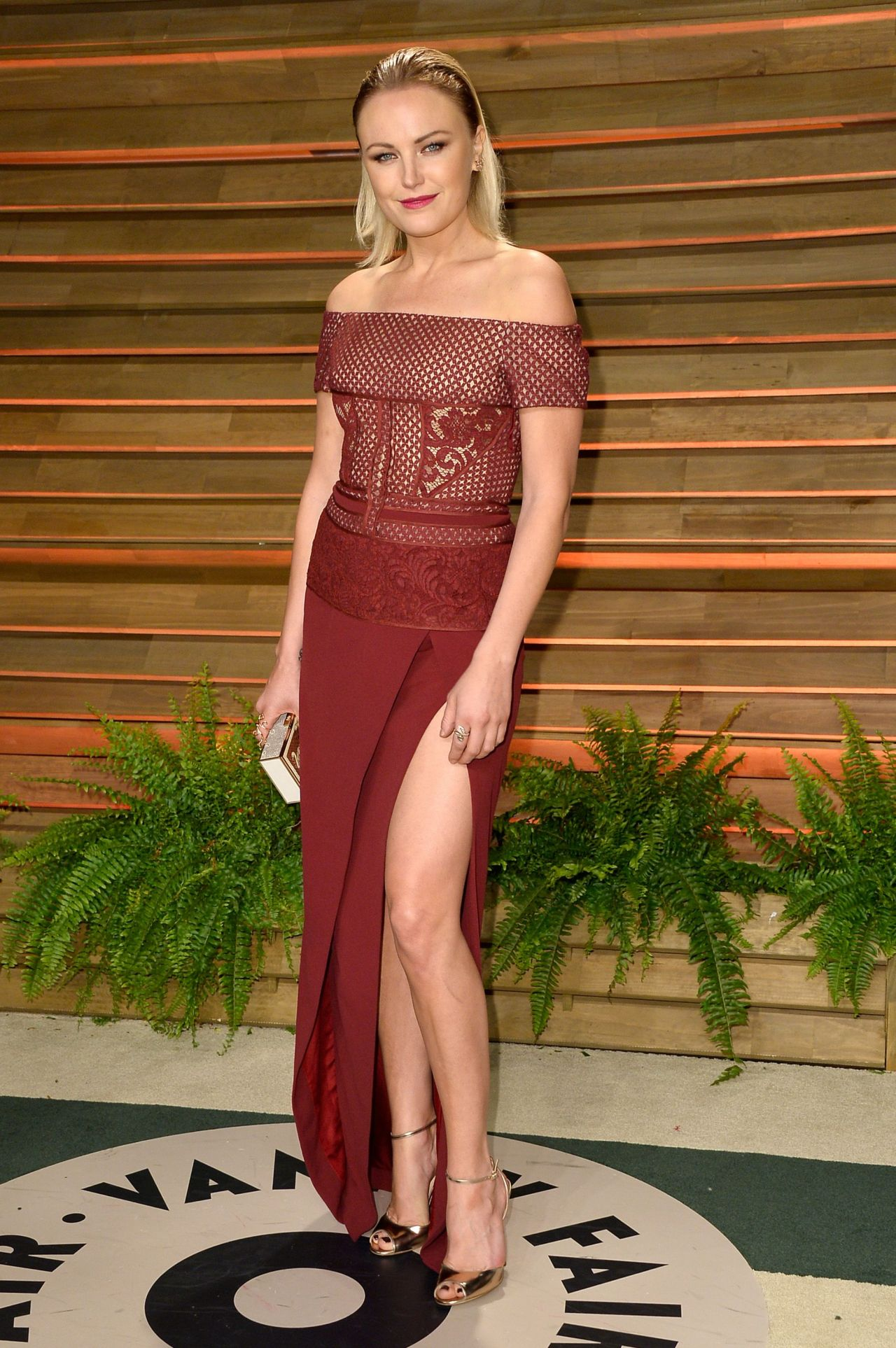 Malin Akerman in J. Mendel Gown - 2014 Vanity Fair Oscar Party in Hollywood