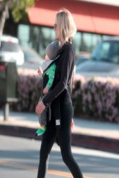 Malin Akerman in Spandex - Out in Los Feliz (California)