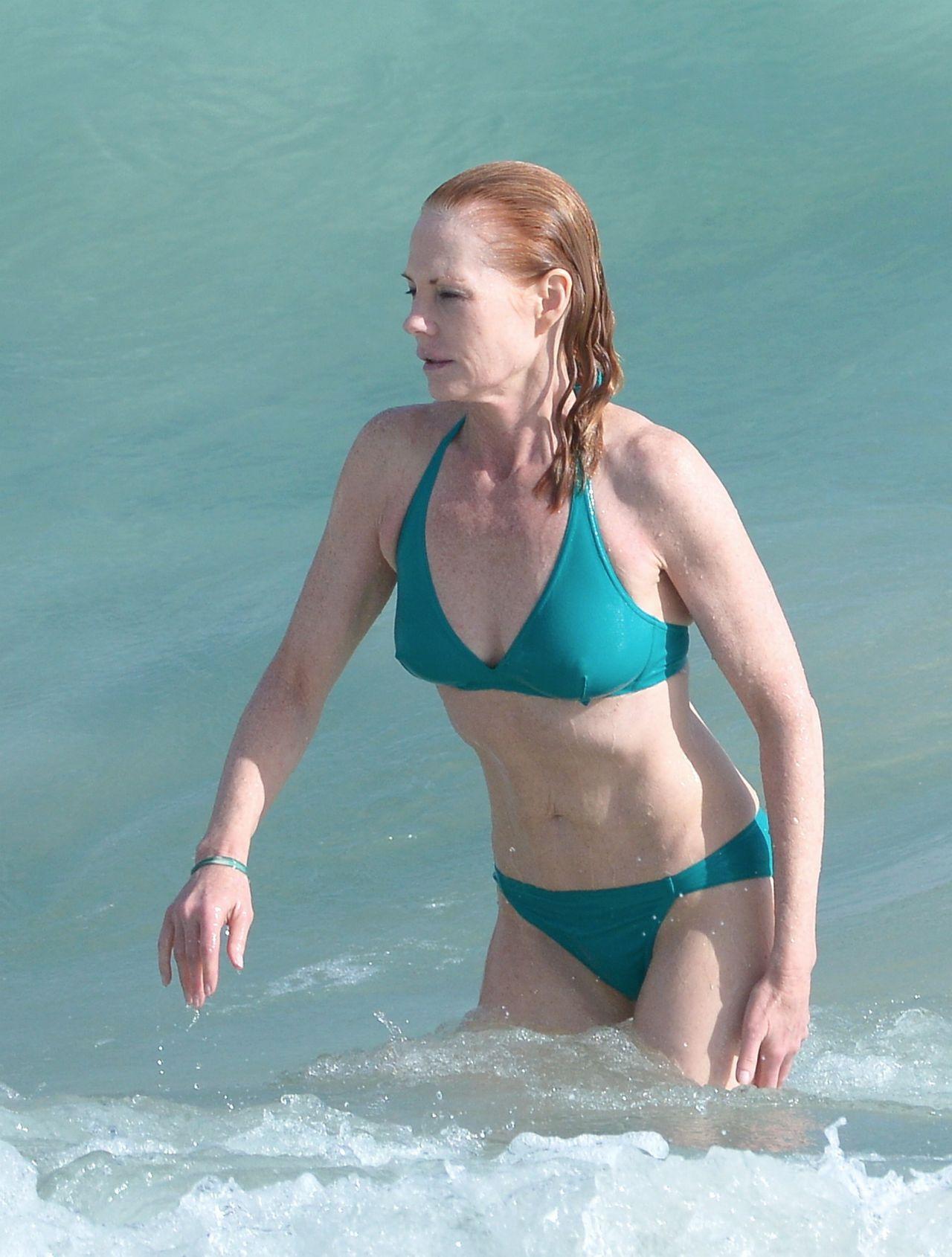 Marg Helgenberger Bikini Candids - St Barts, December 2013