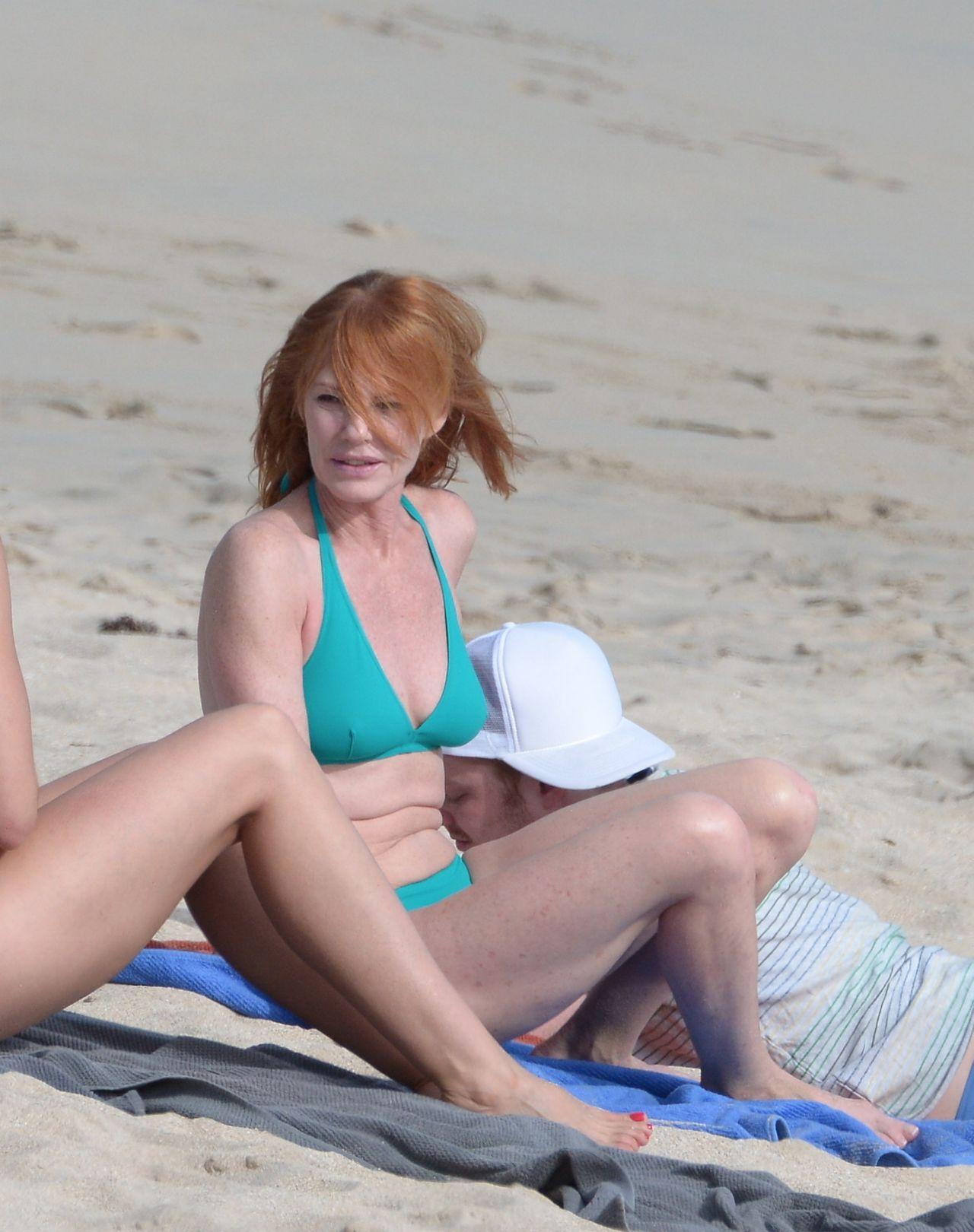 Marg Helgenberger Bikini Candids St Barts December 2013