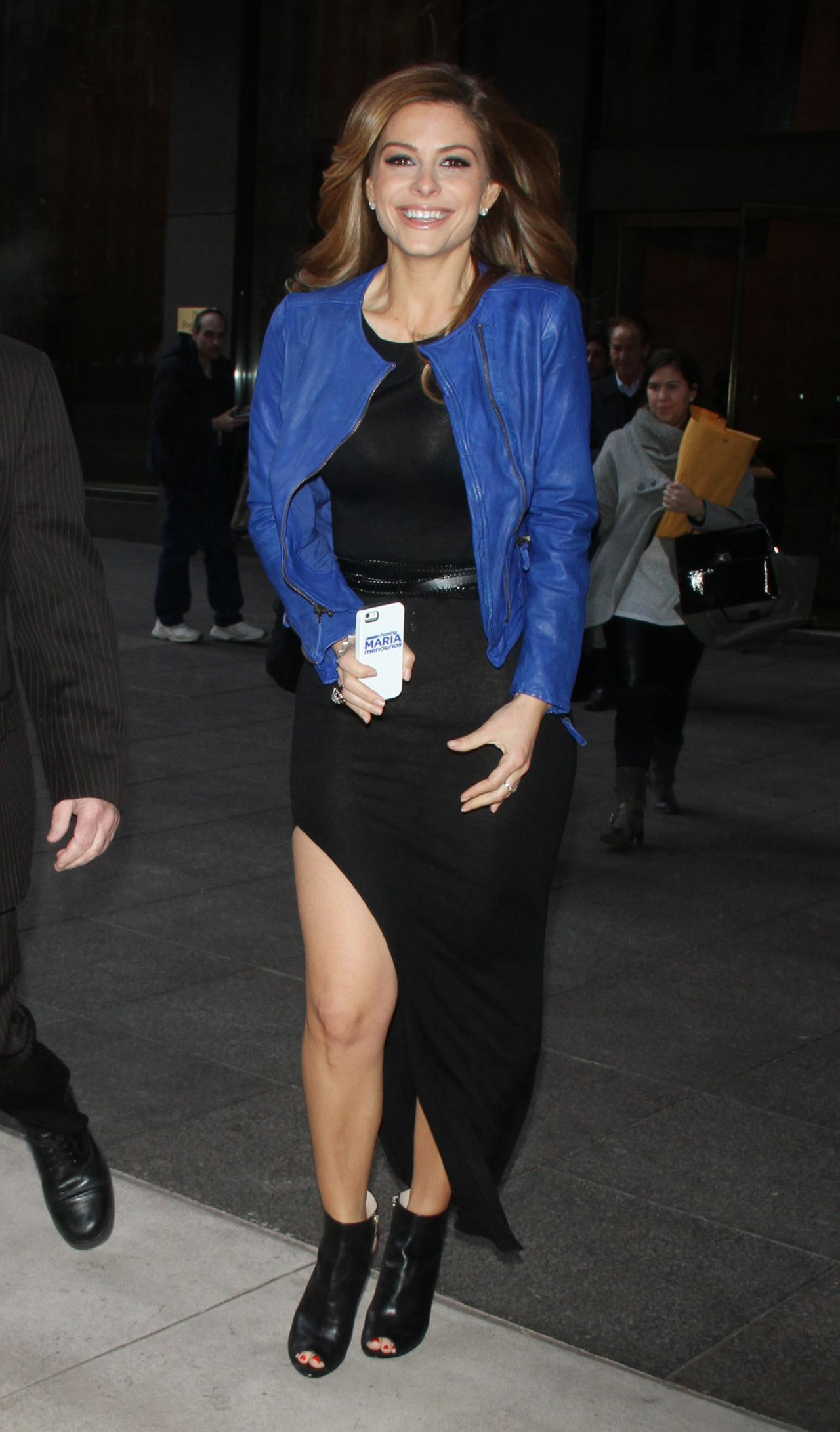 Maria Menounos Arriving at SIRIUS XM Radio in NYC - March 2014
