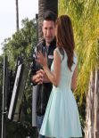 Maria Menounos in Mini Dress - On the set of Extra in Los Angeles - March 2014