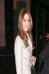 Maria Menounos Night out Style - New York City - March 2014