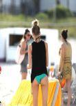 Martha Hunt in Bikini - Eelaxing on the Beach in Miami