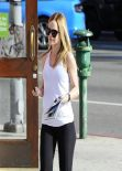 Mena Suvari Street Style - At a UPS Store in West Hollywood