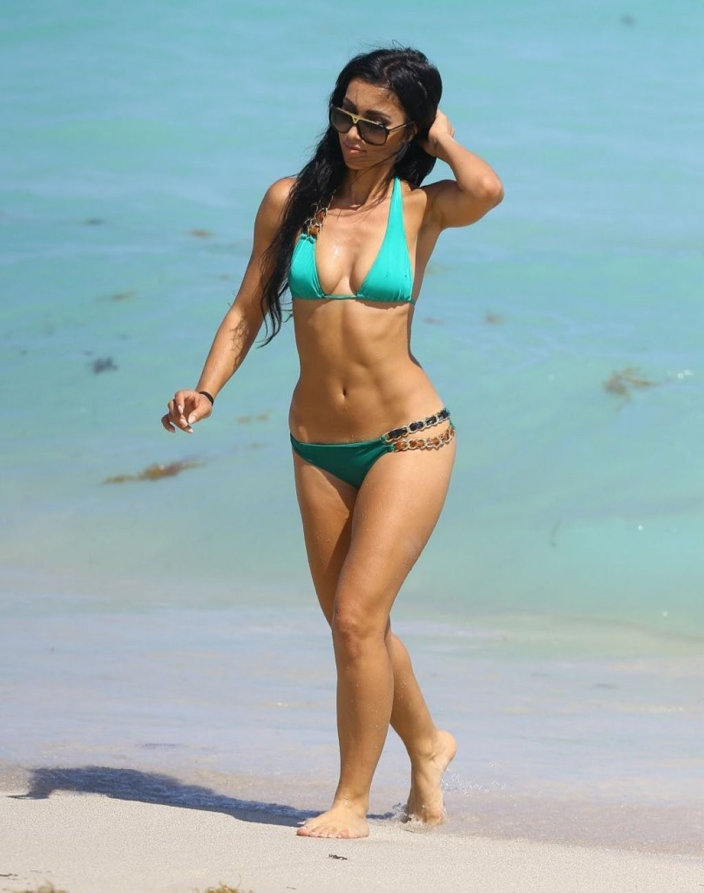 Metisha Schaefer Bikini Candids - Miami, March 2014
