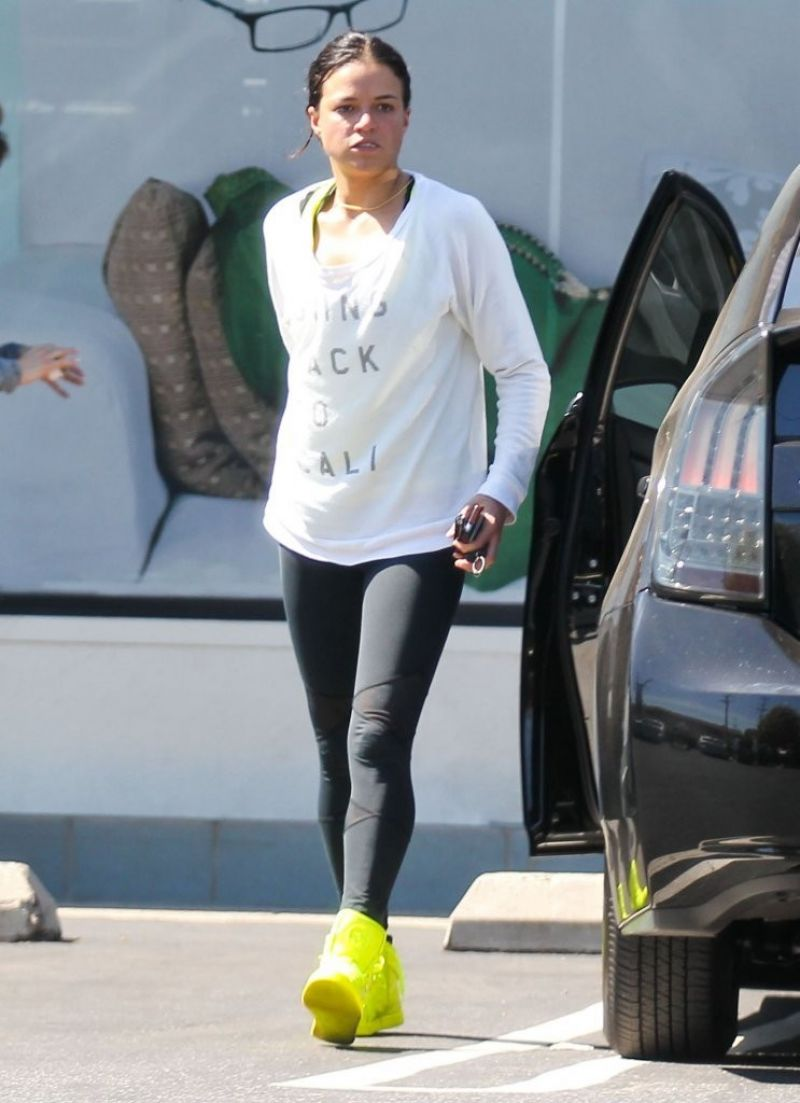 Michelle Rodriguez Street Style Leaving The Gym In Santa