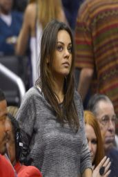 Mila Kunis at Los Angeles Clippers Basketball Game - March 2014