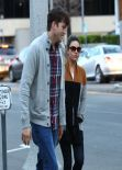 Mila Kunis Street Style - Arriving to the Black Market Liquor Bar in Studio City