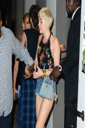 Miley Cyrus in Denim Shorts - Cameo Nightclub in Miami - March 2014