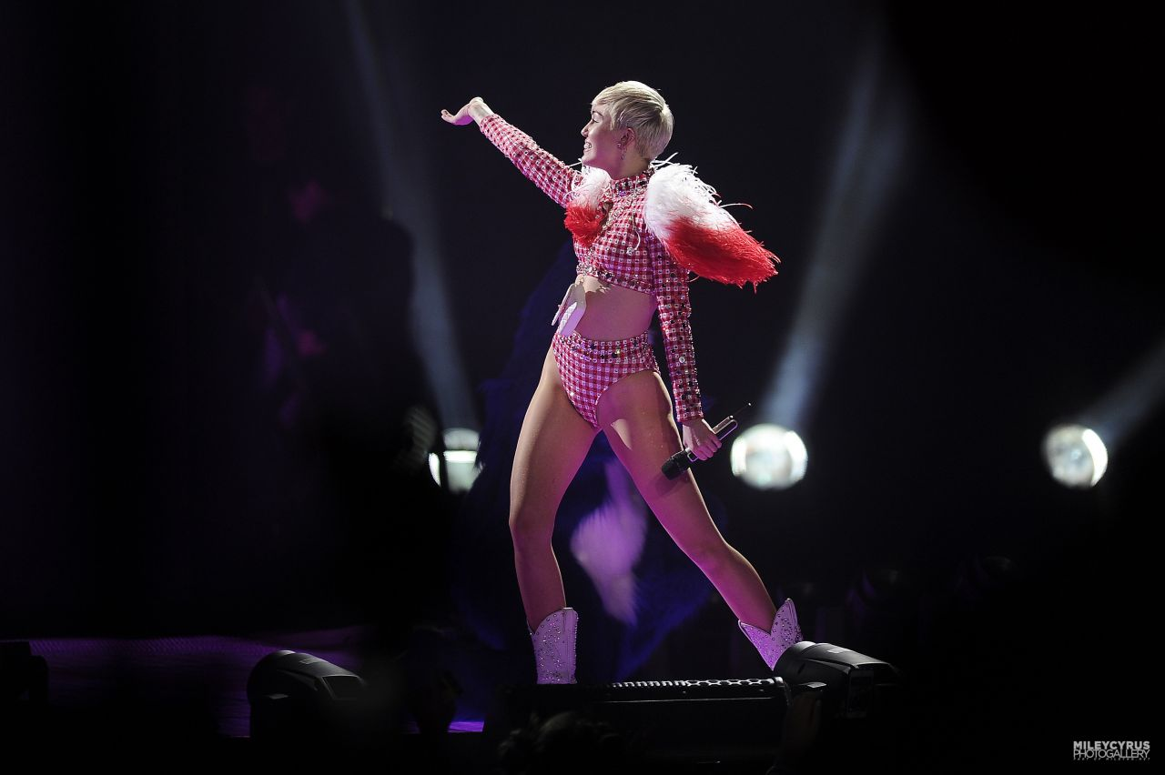 Miley Cyrus Performs at Bangerz Tour in Denver, Colorado