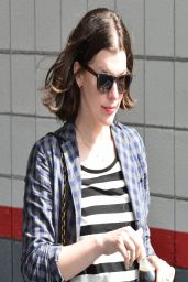 Milla Jovovich Street Style - Cigarettes and Diet Coke - Hollywood, March 2014