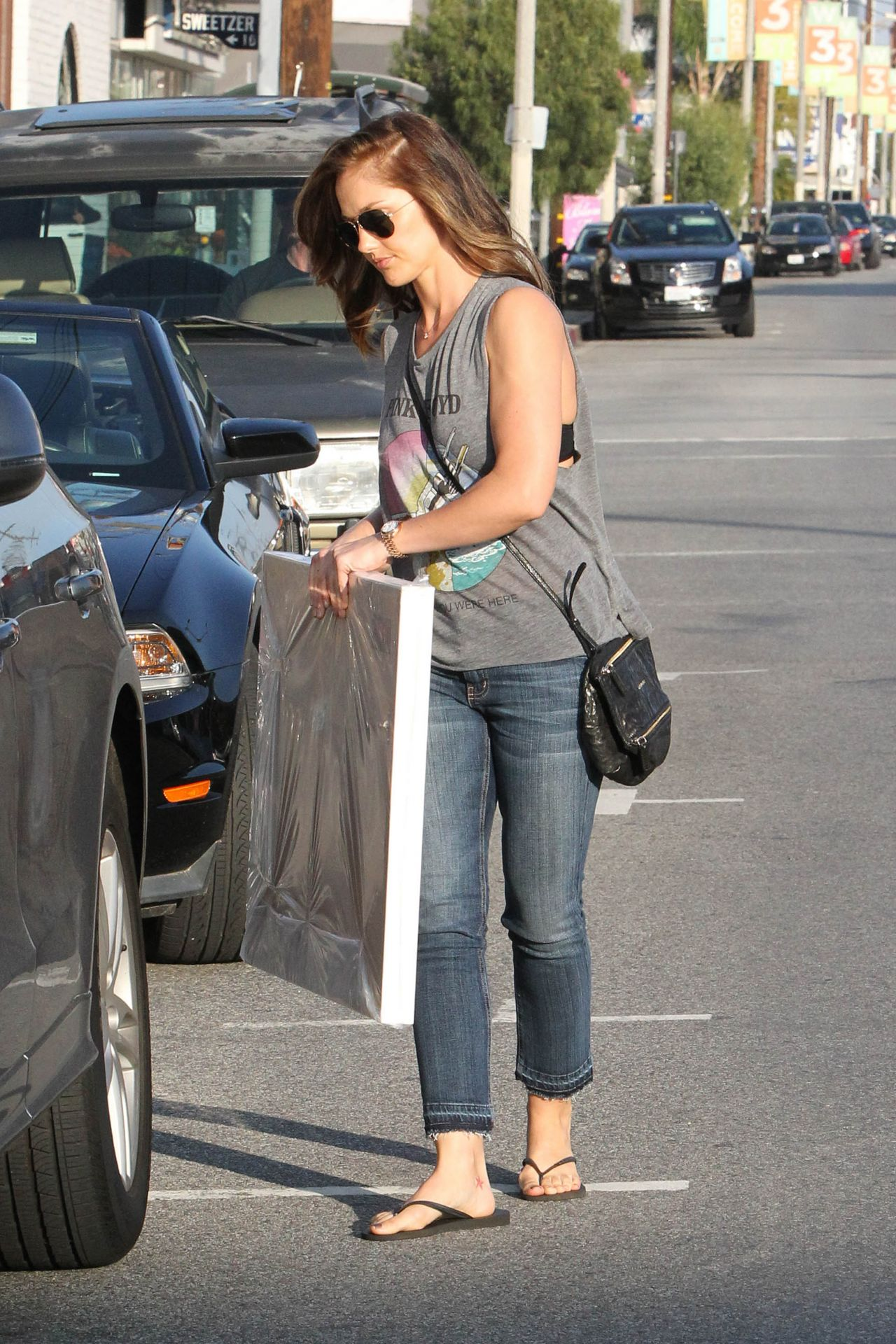 Minka Kelly In Jeans Shopping In West Hollywood March 2014