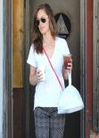 Minka Kelly Street Style - Gets Food To Go At King