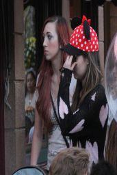 Miranda Cosgrove in Disneyland - Feb 2014