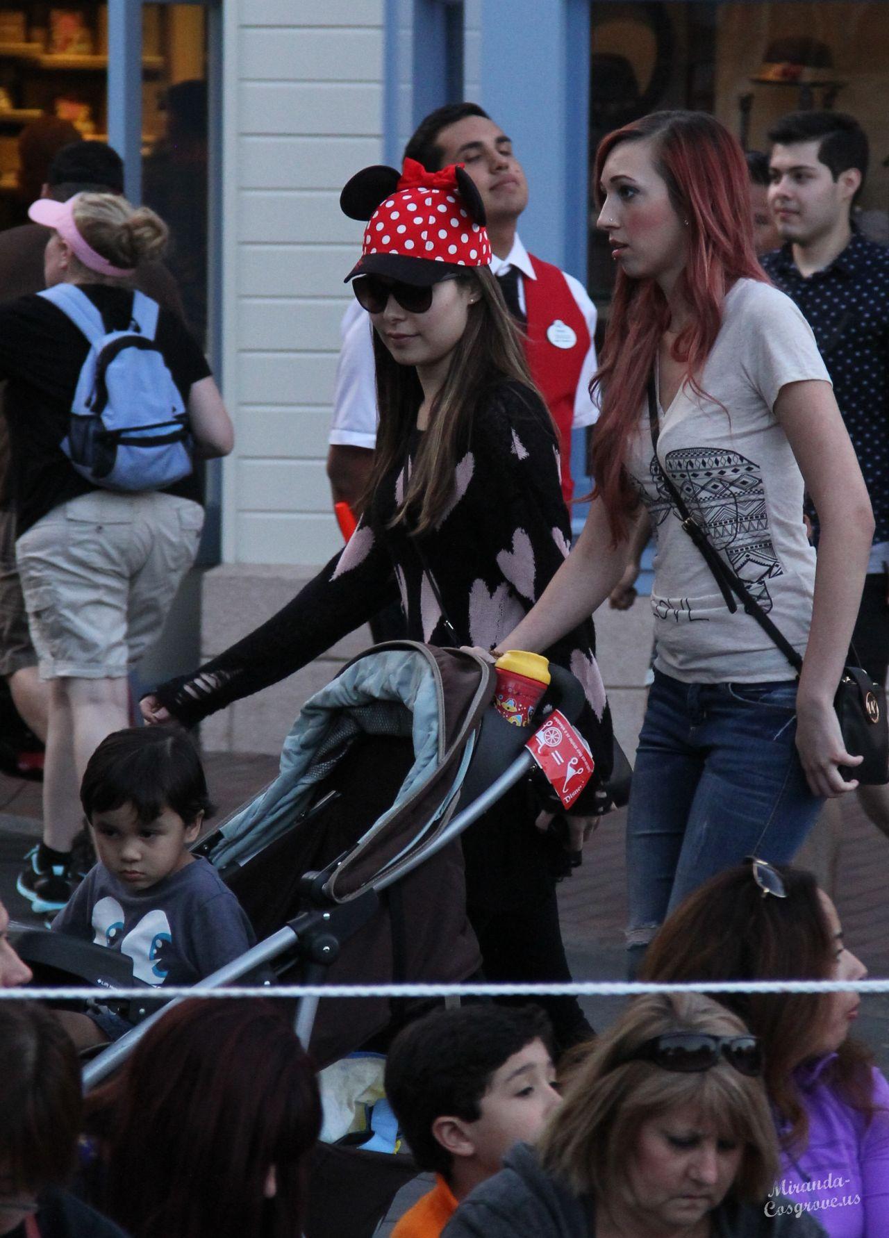 Miranda Cosgrove In Disneyland Feb 2014