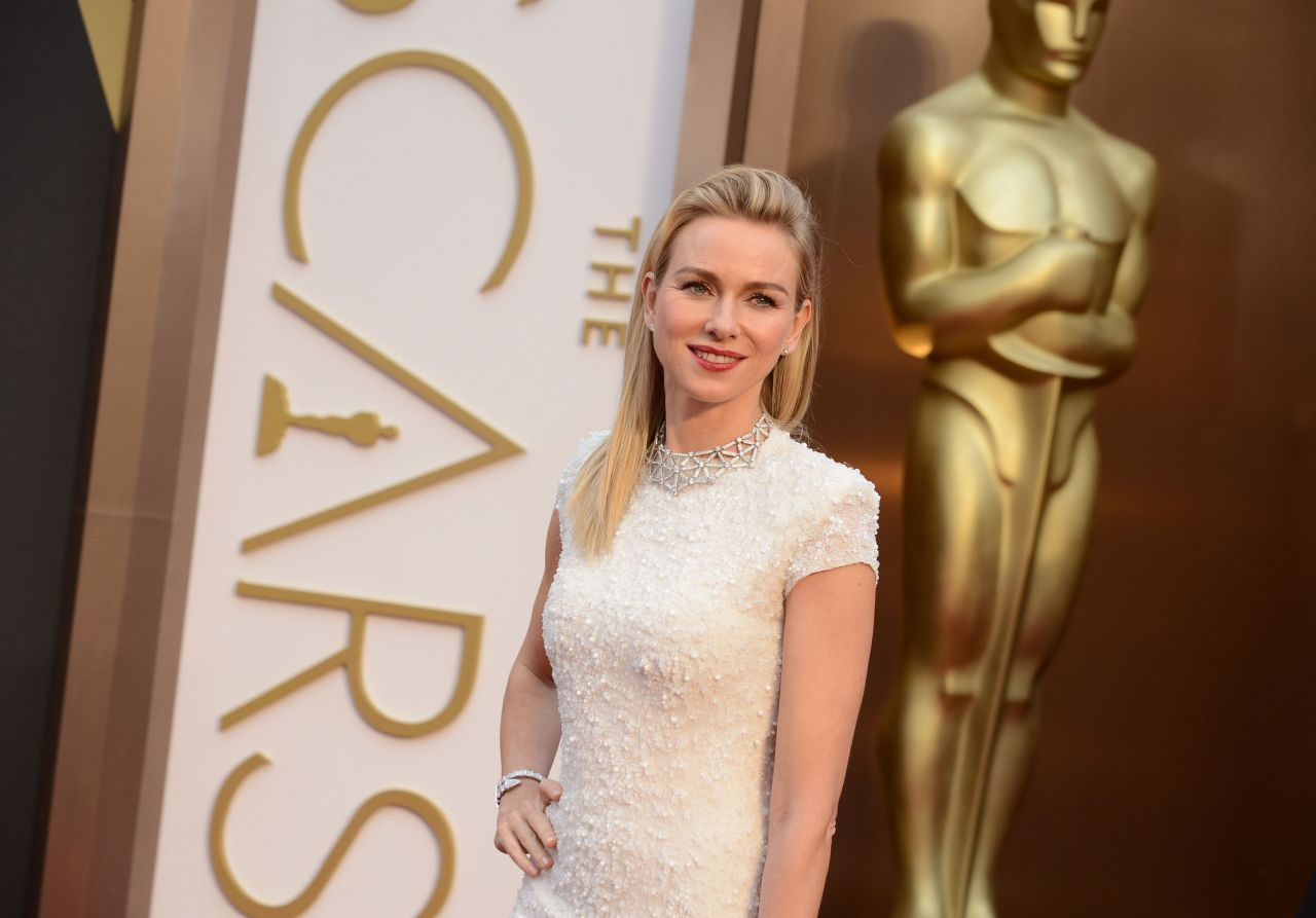 Naomi Watts in a Calvin Klein Collection Dress and Bulgari jewels - 2014 Oscars