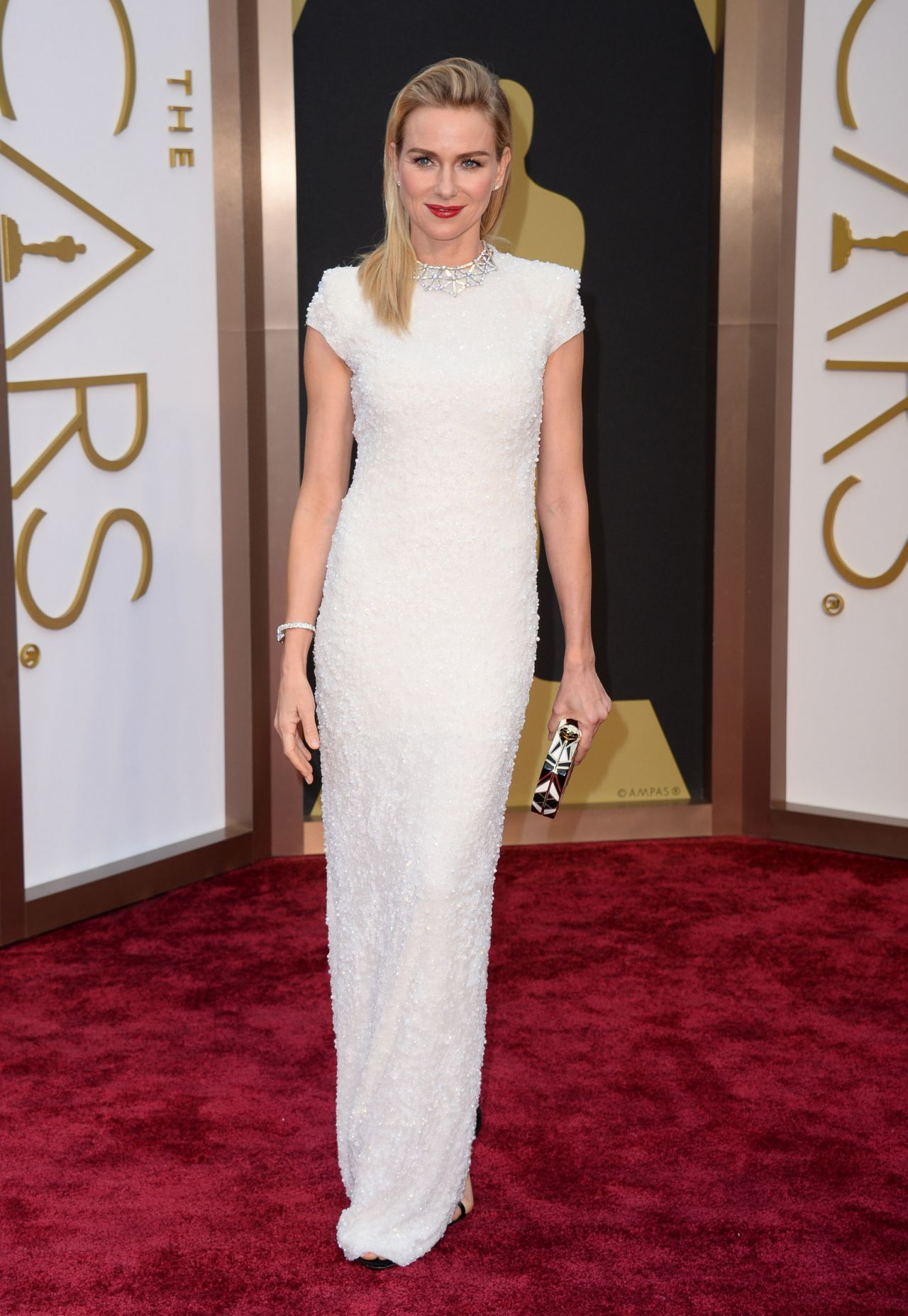 Naomi Watts in a Calvin Klein Collection Dress and Bulgari jewels ...
