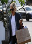 Naomi Watts in Ripped Jeans - Shopping at Brentwood Country Mart