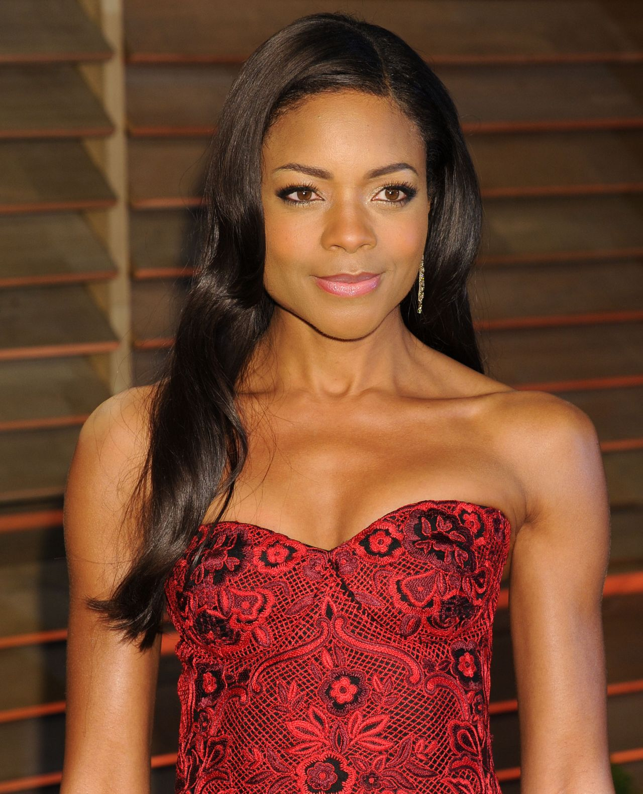 Naomie Harris in Naeem Khan Gown - 2014 Vanity Fair Oscars Party in West Hollywood