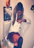 Natalia Bush in Miniskirt - Instagram Photos