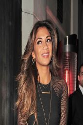 Nicole Scherzinger Night out Style - Arriving at Hakkasan Restaurent in London - March 2014