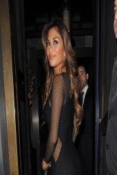 Nicole Scherzinger Night out Style - Arriving at Hakkasan Restaurent in London - March 2014