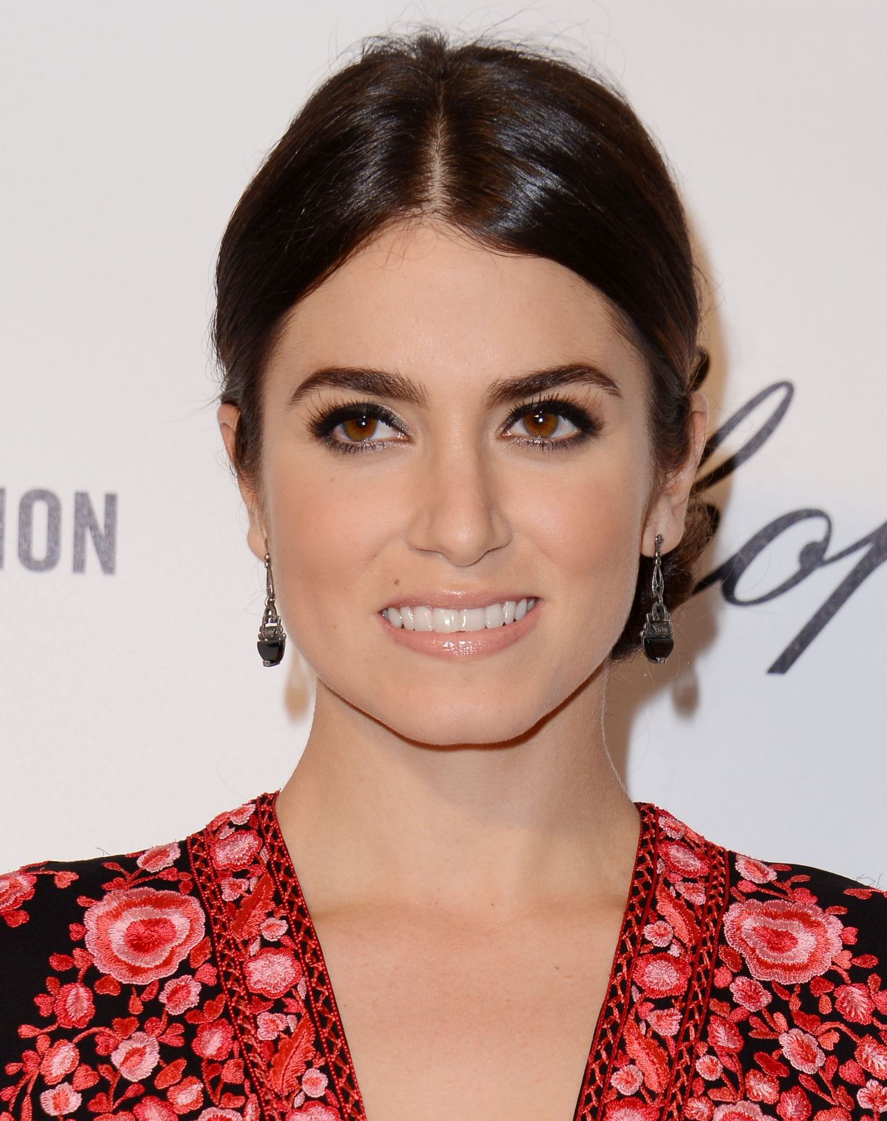 Nikki Reed in Neem Khan Dress at 2014 Elton John Oscar Party