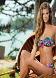 Nina Agdal in a Bikini - Banana Moon Swimwear - Spring/Summer 2014