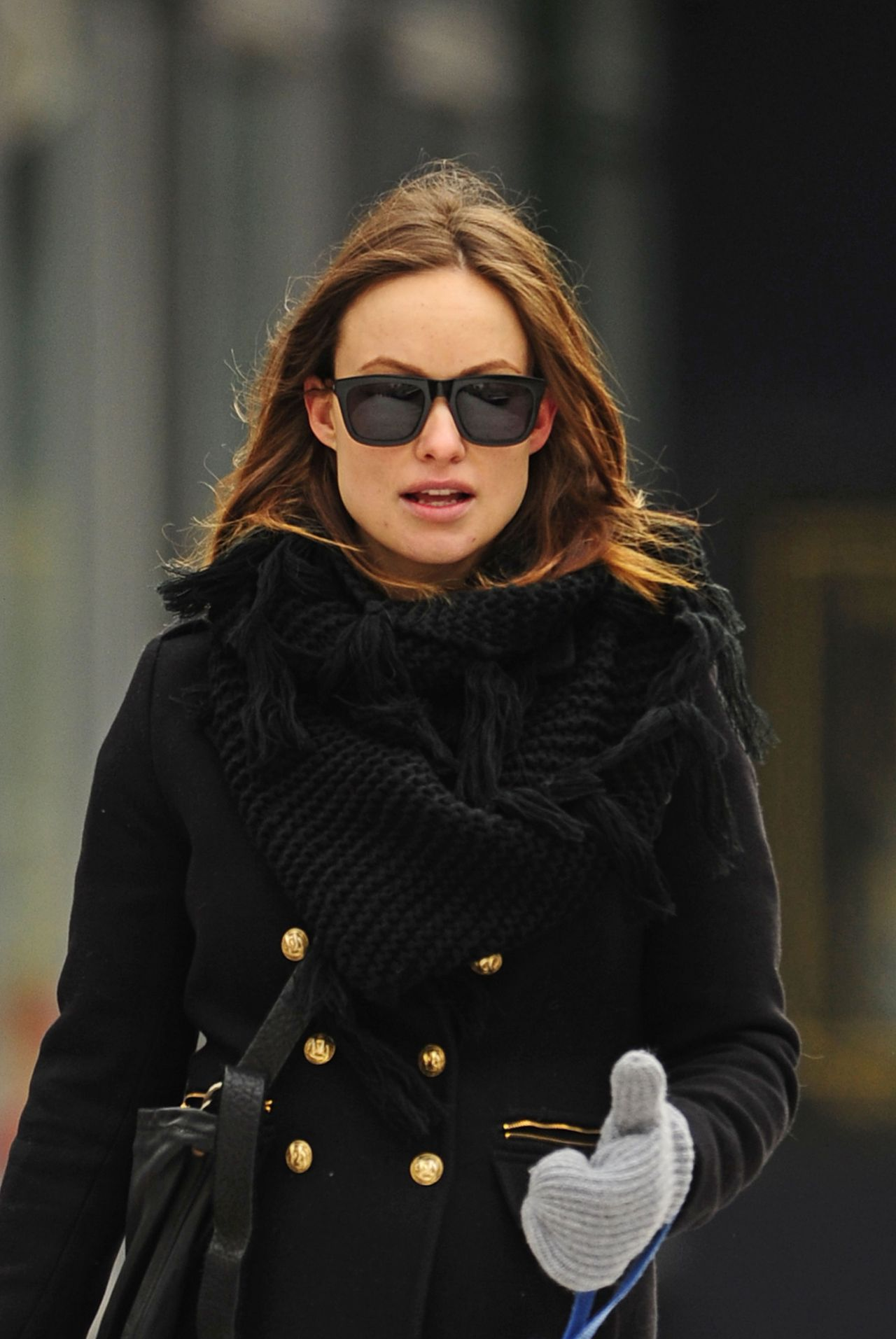 Olivia Wilde Winter Street Style - New York City, March 2014