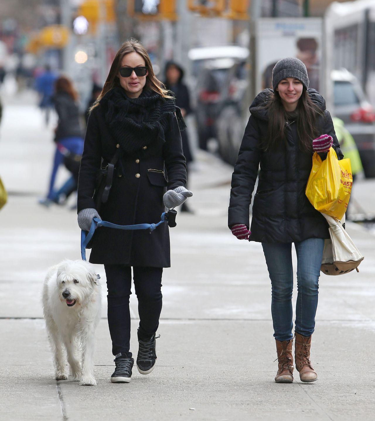 olivia wilde winter street style new york city march 2014