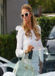 Paris Hilton All in White - Studio City, March 2014