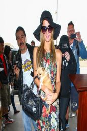 Paris Hilton in Long-Dress at LAX Airport - March 2014