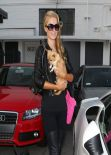 Paris Hilton Leaving Meche Hair Salon in Beverly Hills - March 2014