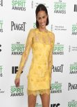 Paula Patton Wearing Lorena Sarbu Mini Dress - 2014 Film Independent Spirit Awards