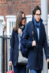 Pippa Middleton Street Style - out in London - March 2014